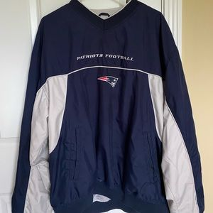 NFL Reebok Team Apparel Patriots Football Pullover